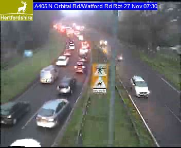 Traffic on the A405 between St Albans and Watford. Picture: Herts Highways