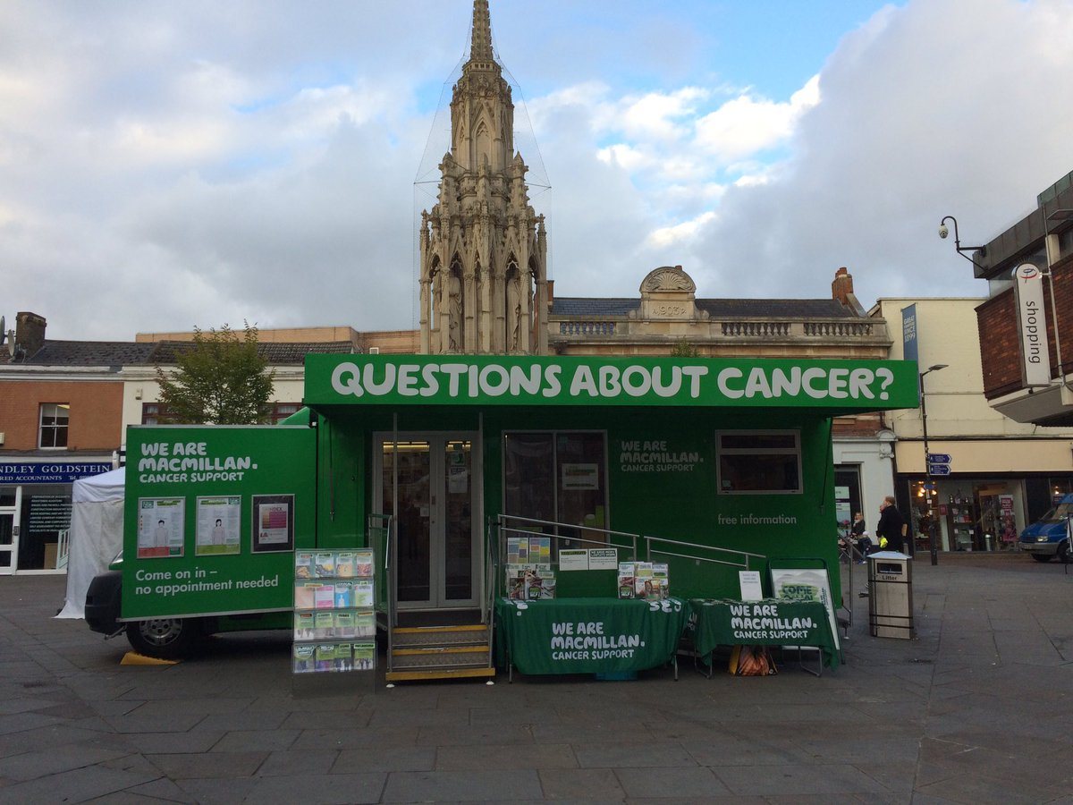 Macmillan Cancer Support Information Service in Leather Lane Market