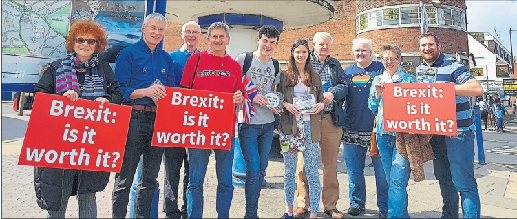 Enfield for Europe took to the streets to campaign for a second vote on EU membership