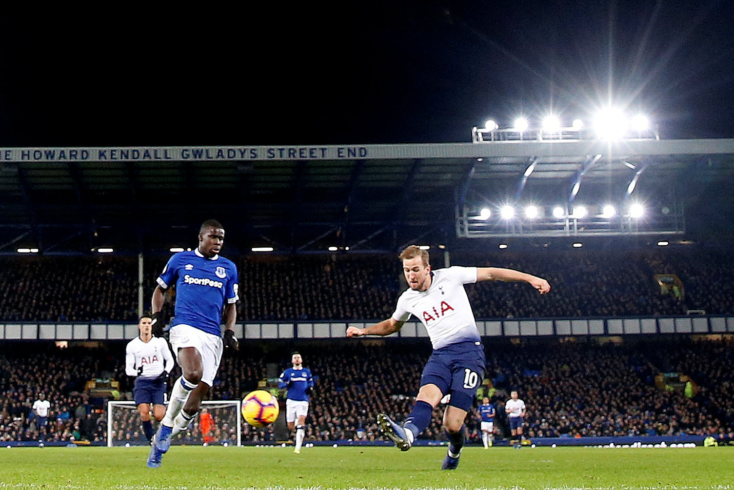 Harry Kane fires home Spurs' sixth goal. Picture: Action Images