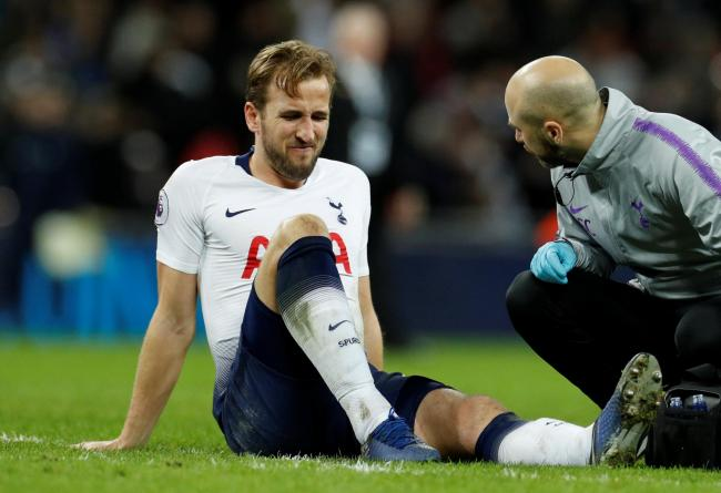 Harry Kane sustained the injury towards the end of Spurs' defeat. Picture: Action Images
