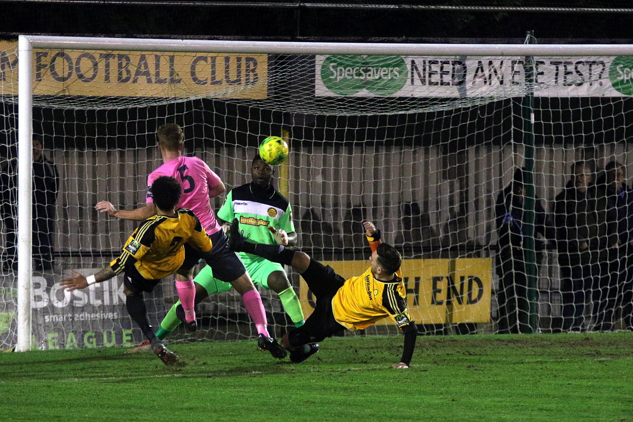 Marc Weatherstone saw this effort disallowed for offside in Saturday's defeat. Picture: Phil Davison