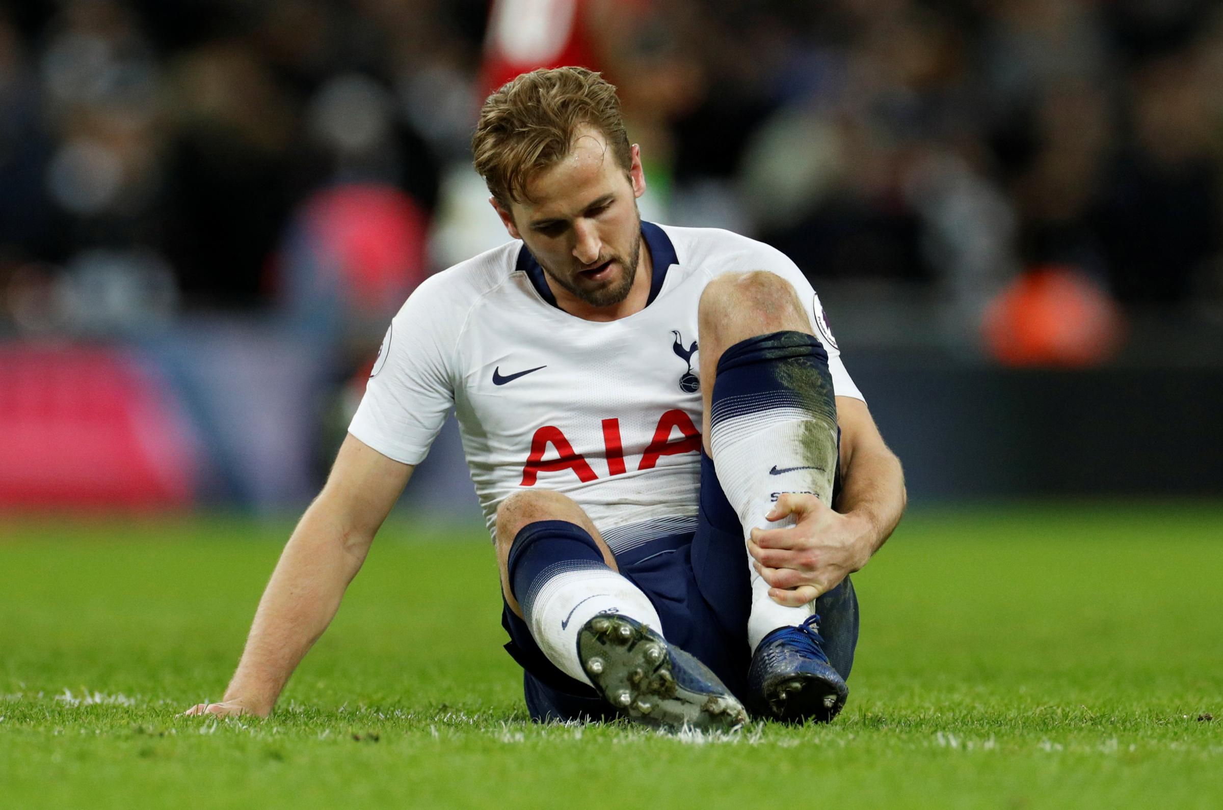 Harry Kane is recovering from an ankle injury. Picture: Action Images