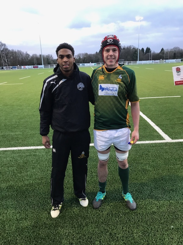 Cairo Sango, left, and Euan Renny have been in action for Hertfordshire Under-20s.