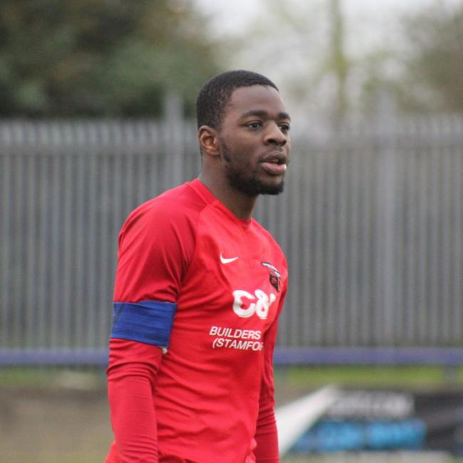 Guy Kiangebeni scored twice for Enfield Borough in their draw against FC Broxbourne Borough. Picture: Marvin Walker