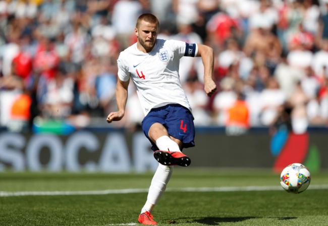 Eric Dier converting England's winning penalty yesterday. Picture: Action Images